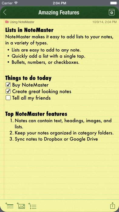Notemaster review screenshots