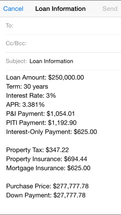 Real Estate Master IIIx -- Simple to Use Residential Real Estate Finance Calculator screenshot-3