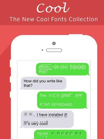 Screenshots of Fonts Keyboard, Art Fonts, Cool Font for Chat for iPad