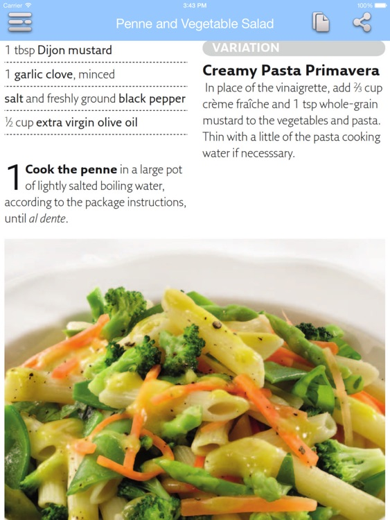 Low Calorie Recipes for iPad