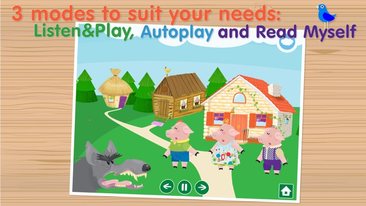 The Three Little Pigs Free - Interactive bedtime story book screenshot-4