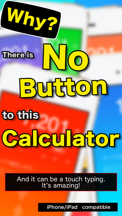 STEALTH Calculator : Eyes Free, Touch typing calc app