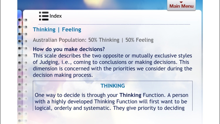 Jungian Type Questionnaire screenshot-3