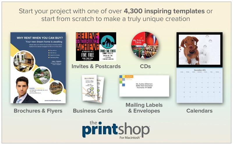 The Print Shop review screenshots