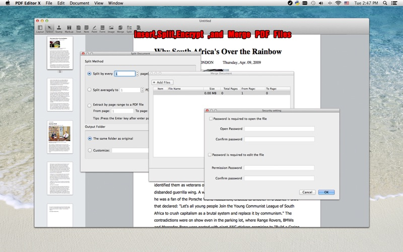 PDF Editor X Screenshot