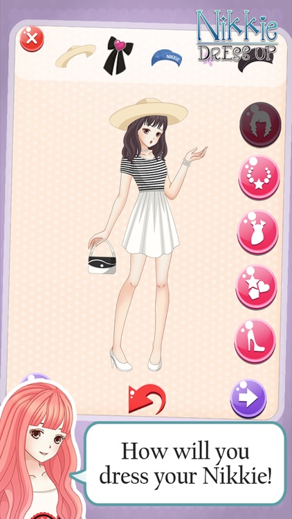 Dress-up nikki kawaii little girls : Top Line Play Pinkie Dressing story beauty salon anime games
