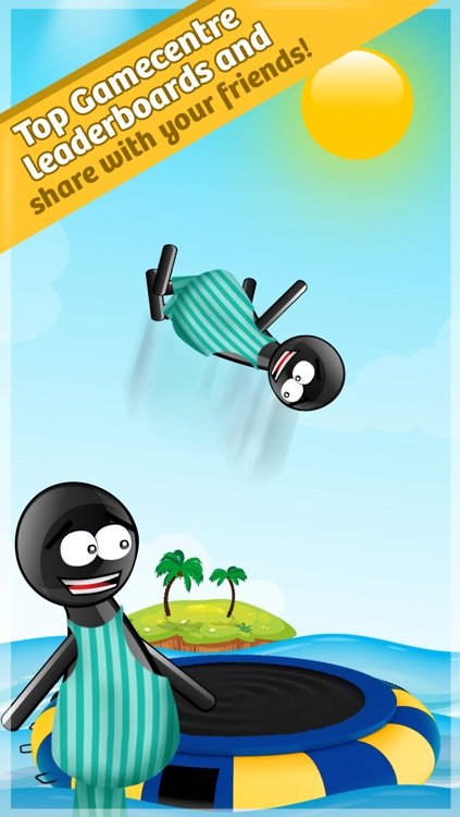 Stickman Water Trampoline FREE - Flipping Summer! screenshot-3