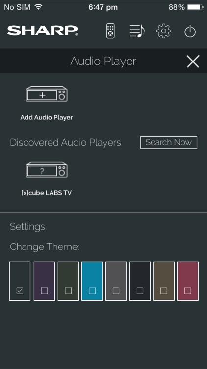 Sharp AudioCentral Remote