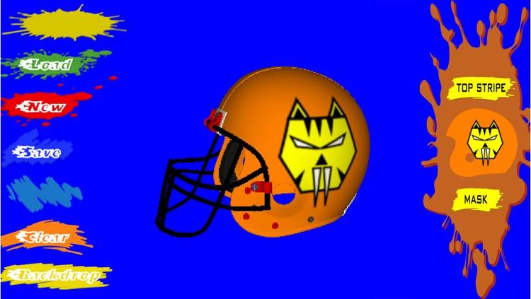Football Helmet 3D - Design your helmet decals screenshot-3