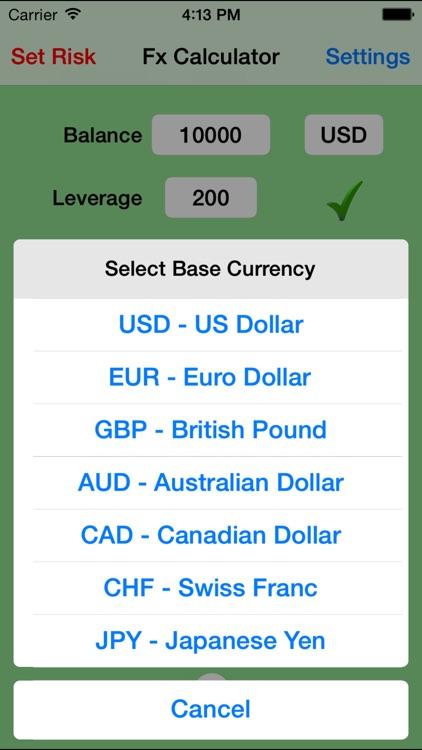 Forex, Gold & Silver Trade Calculator screenshot-3