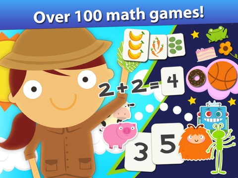 Screenshot #1 for Animal Math Games for Kids in Pre-K, Kindergarten and 1st Grade Learning Numbers, Counting, Addition and Subtraction Premium