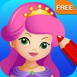 Princess Fairy Ballerina Color Salon: Fun Ballet Dancers Princesses Fairies Coloring Book for Kids and Girls