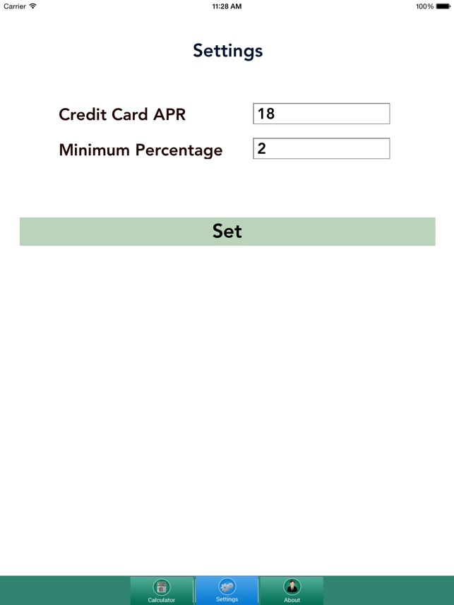 cost of credit calculator on the app store
