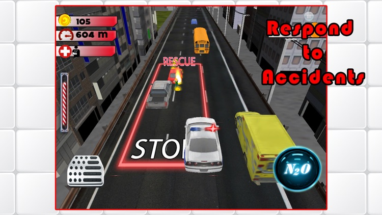 3D Rescue Racer Traffic Rush - Ambulance, Fire Truck Police Car and Emergency Vehicles : FREE GAME screenshot-4