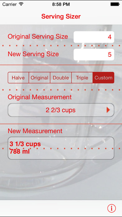 Serving Sizer Recipe Converter review screenshots