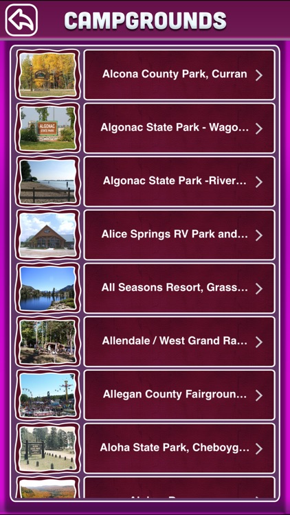 Michigan Campgrounds Offline Guide screenshot-1