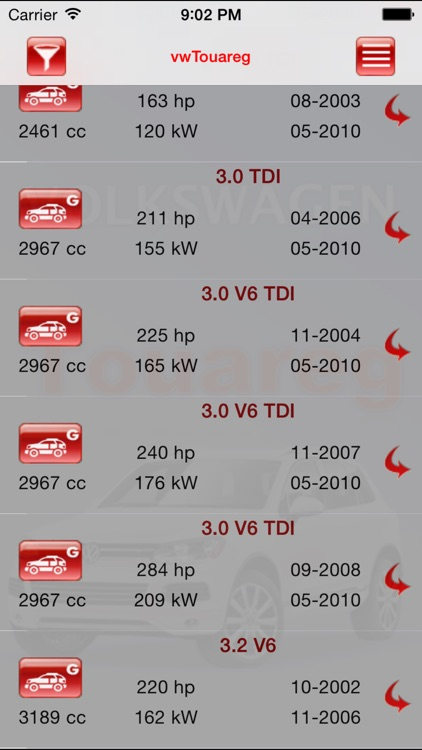 AutoParts VW Touareg screenshot-0