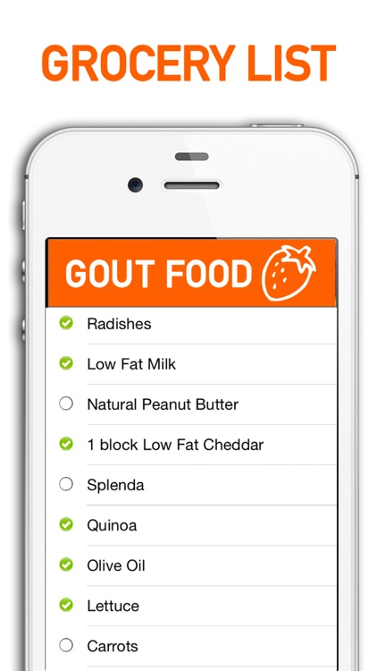 Gout Diet Foods and Grocery List