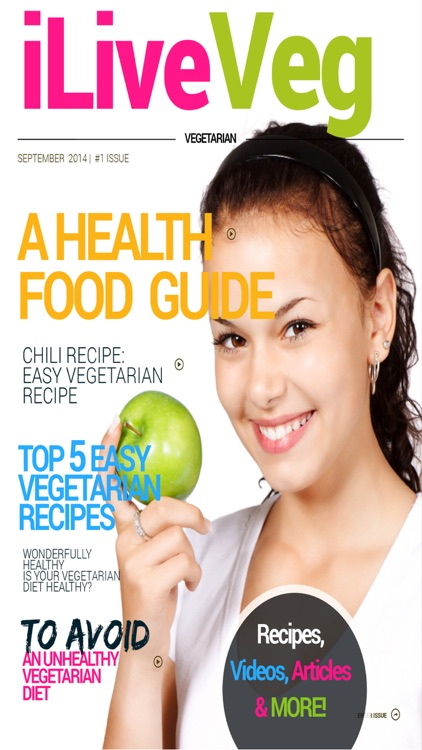 'iLiveVeg: The Magazine For Cooking Light with Mediterranean Diet and Raw Food Recipes for Dinner screenshot-4