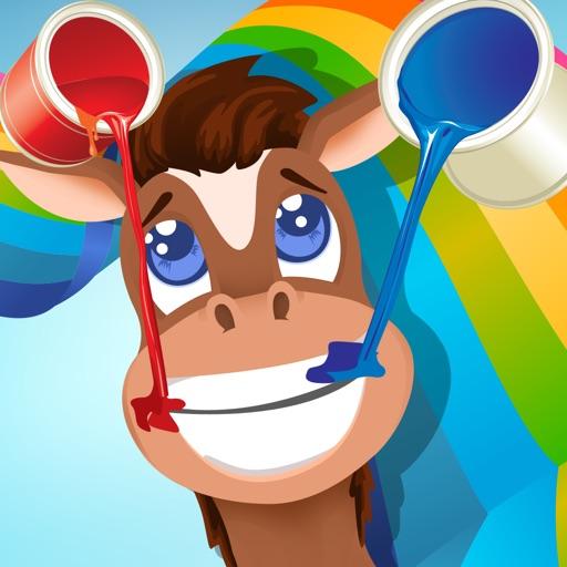 Активный! Книжка-раскраска Лошадей Для Детей: Учиться Рисовать И Цвет Лошадь