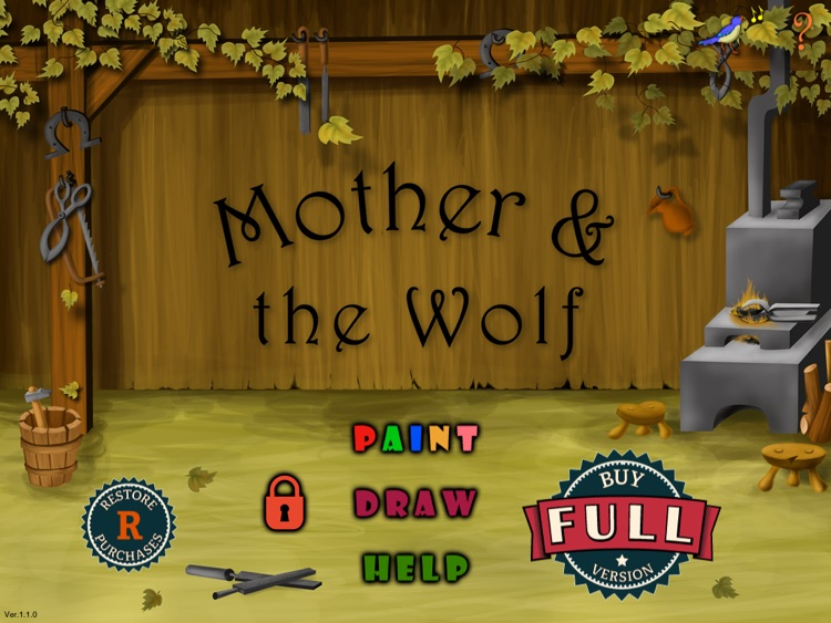 Mother and the Wolf - Kids Coloring Book - FREE