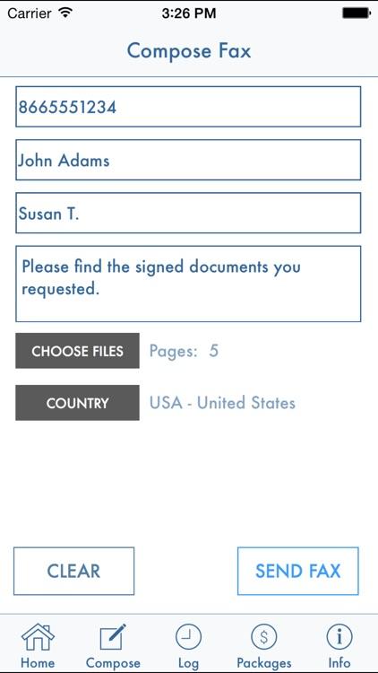 FaxDocument – send fax from iPhone screenshot-4