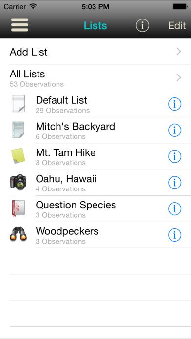 iBird Journal: Listing Birds of North America Screenshot