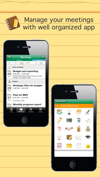 Smart meeting minutes Basic - Schedule check list screenshot-3