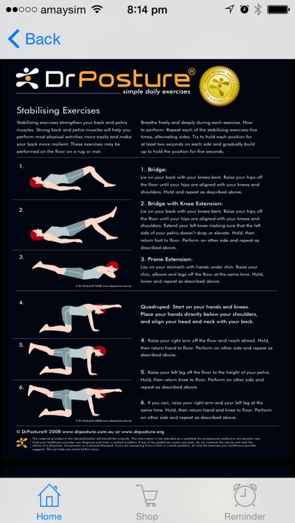 DrPosture® - Your health is in your posture! screenshot-3