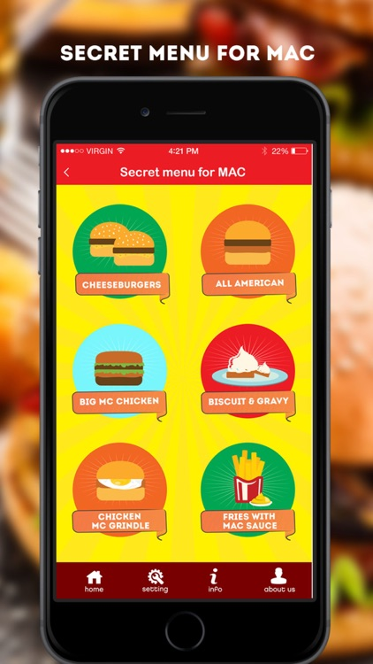 Secret Menu for McDonald's - McD Fast Food Restaurant Secrets screenshot-0