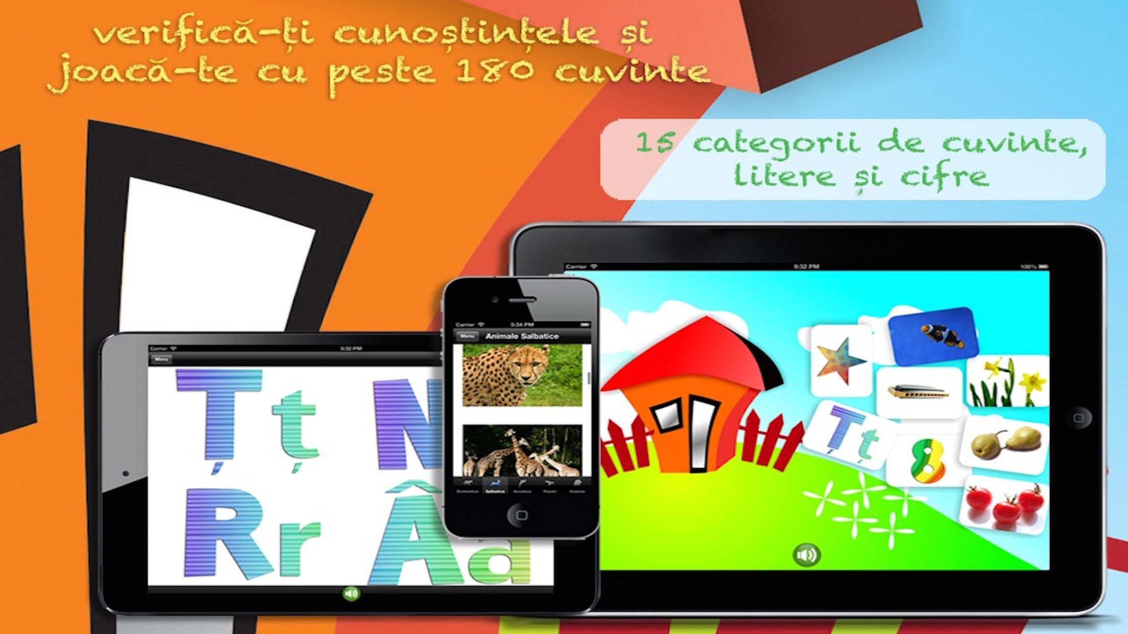 Să învățăm Litere Cifre și Cuvinte cu Animale, Forme, Culori, Fructe, Legume Free Gratis Gratuit Screenshot