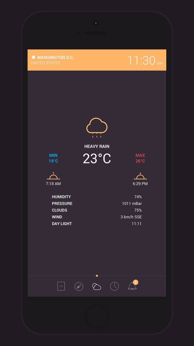 Globo - World Clock and Weather Screenshot
