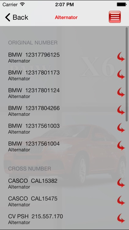 AutoParts BMW X6 screenshot-1