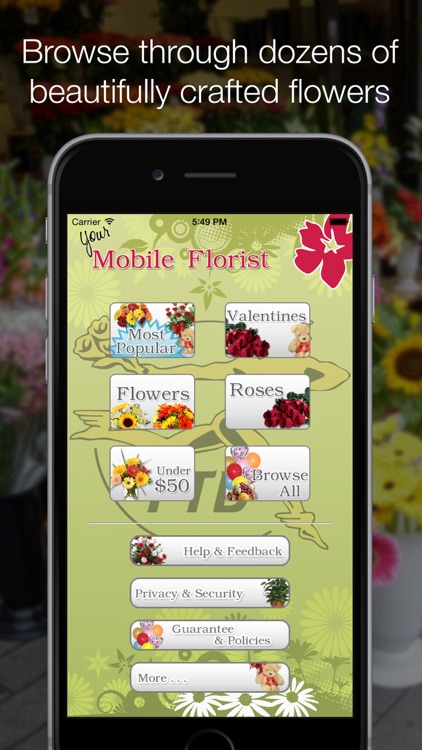 Mobile Florist: Flower Delivery - Order & Send Fresh Flowers from Anywhere using Local Florists! screenshot-0