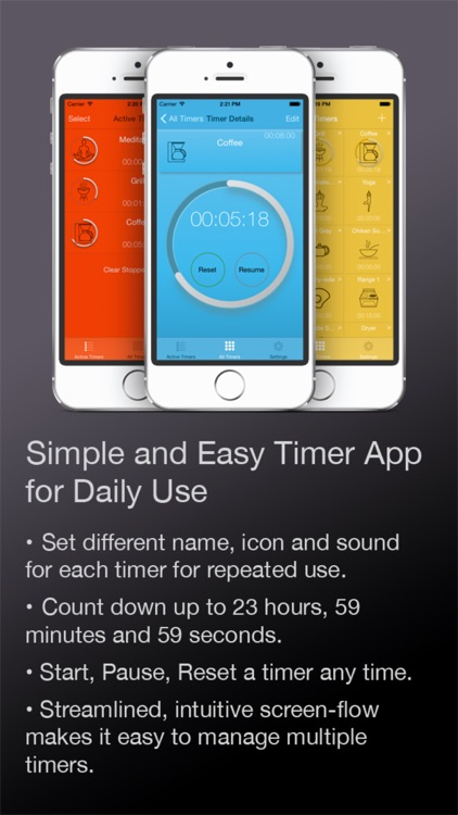 Multi Timer HD Free - Visually manage tasks, chores, activities in everyday life