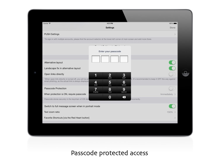 iMailG HD Free for Gmail with fingerprint & passcode protected privacy screenshot-0