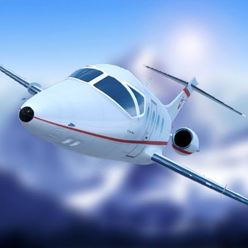 Симулятор посадки самолета в швейцарских Альпах
