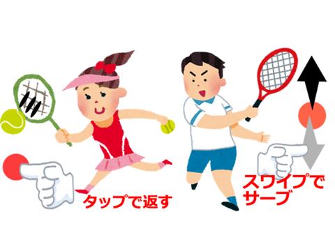 二人でできるゲーム 二人テニス(無料版)のおすすめ画像1