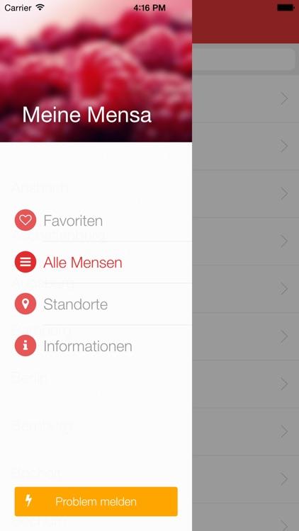 Meine Mensa - Speiseplan für alle Universitäten und Hochschulen in Deutschland screenshot-3