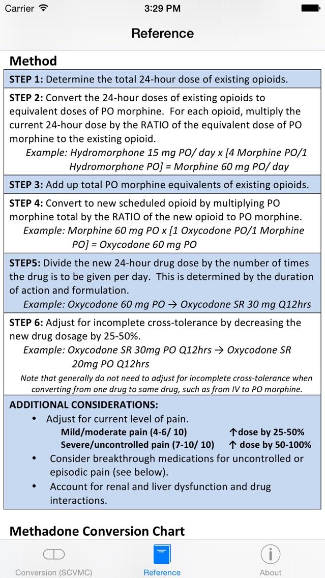 Opioids Dosage Conversion - AppRecs