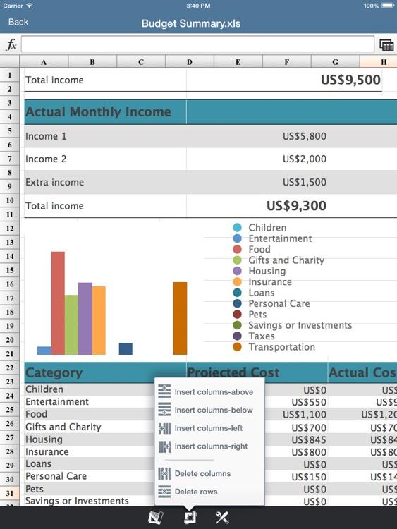 SpreadSheet -Excel Edition HD screenshot-4