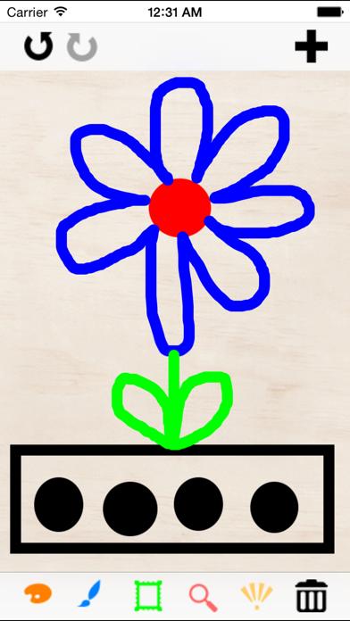 おえかきウォッチ - ようかいも似顔絵もアルファベットの練習もこれ一つで出来るお絵描きアプリのおすすめ画像1