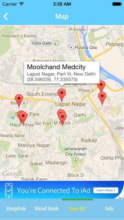 Delhi Hospitals & Blood Bank screenshot-3