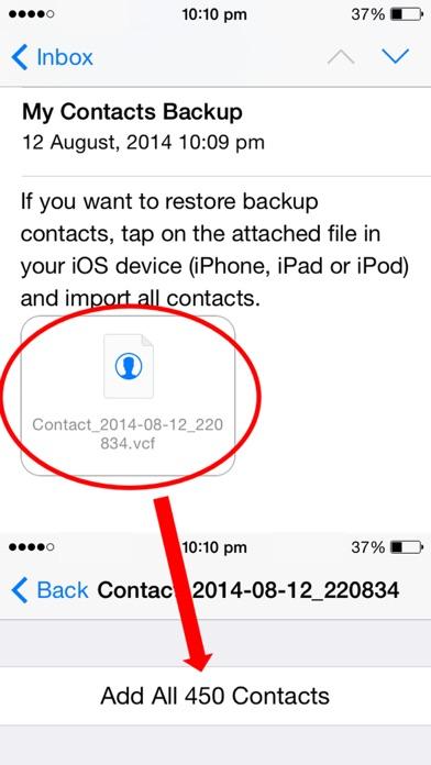messages.download My Contacts Backup Free - Einfach, schnell, zuverlässig software