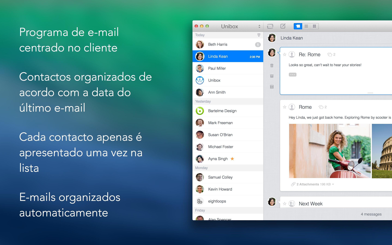 Screenshot do app Unibox