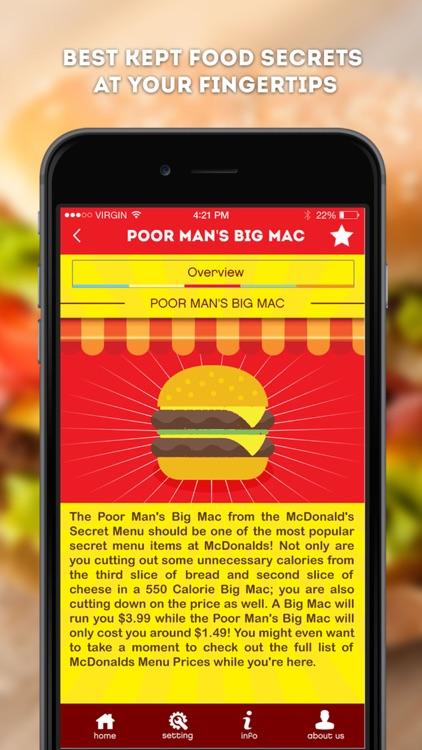 Secret Menu for McDonald's - McD Fast Food Restaurant Secrets screenshot-3