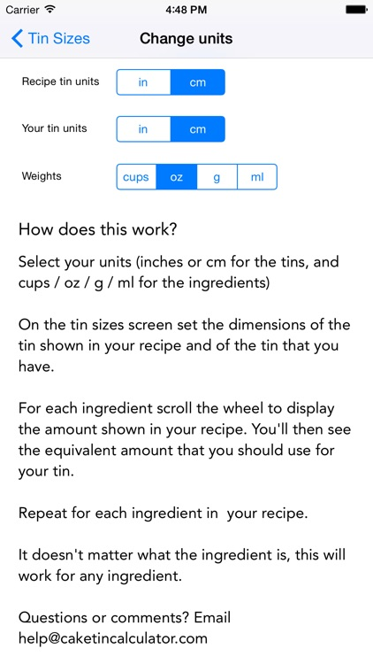 Cake Tin Calculator: Convert recipes for different tin sizes