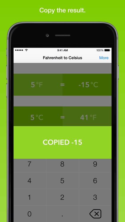 Fahrenheit To Celsius, the fastest temperature converter screenshot-2