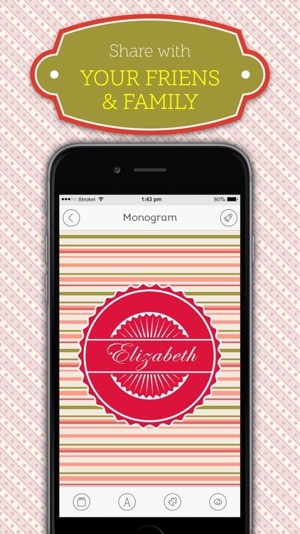 Monogram HD Wallpaper Creator screenshot-3