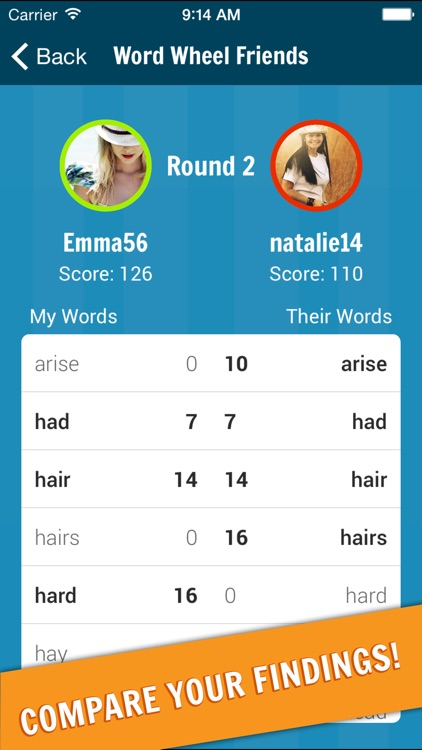 WordWiz - Compete With Friends In The New Word Wheel Game!
